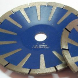 Tarcza do granitu diament. 180 wypukla 270x270 - Tarcza diam. śr. 230 laser H8/2 2,6
